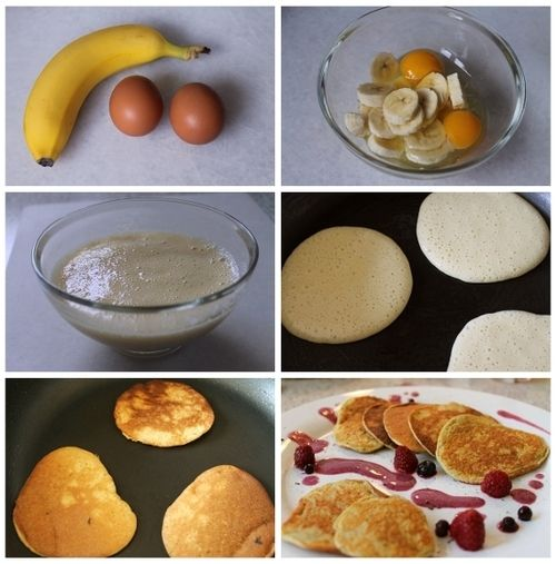 Así de sencillo como ves en la imagen, puedes hacer hot cakes libres de harina, sólo una PAM Mantequilla en la sartén y ya está. Más sano, imposible.