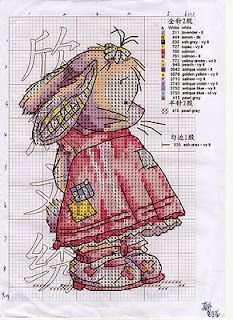 Bunny counted cross stitch