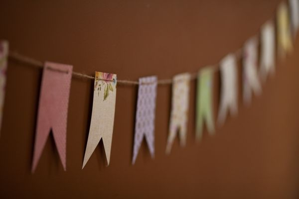 recycled wallpaper bunting