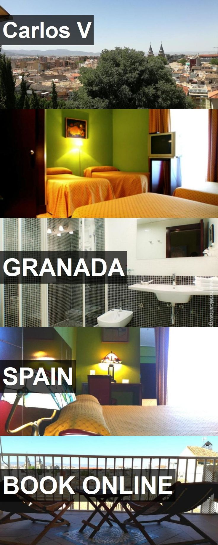 Hotel Carlos V in Granada, Spain. For more information, photos, reviews and best prices please follow the link. #Spain #Granada #CarlosV #hotel #travel #vacation
