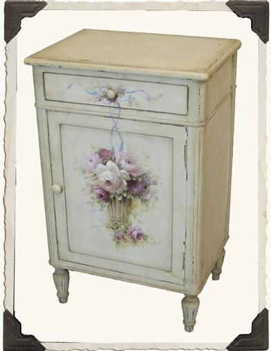 """Enchanted Cottage Nightstand, 19"""" x 13½"""" x 30"""" h. $199.95 at victoriantradingco.com, 12/10/15"""