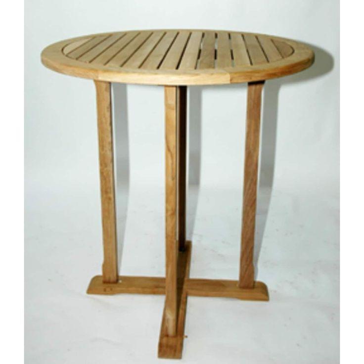 36 NaturalTeak Outdoor Patio Bar Table, Brown, Patio Furniture