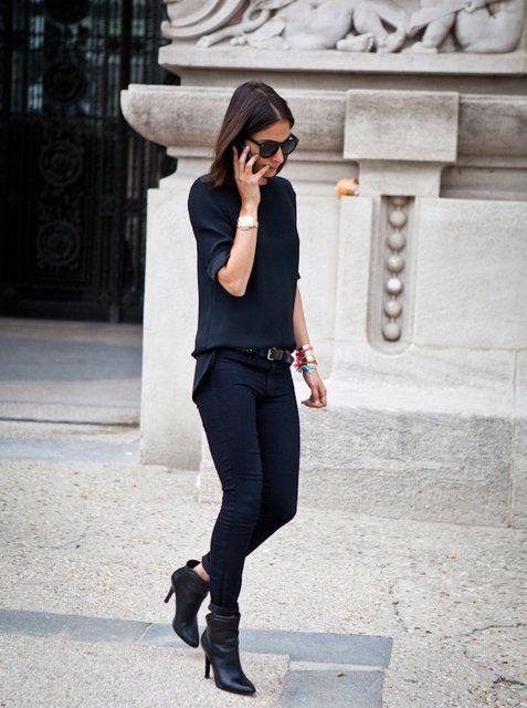 Fancy – Blue Black Skinny Jeans