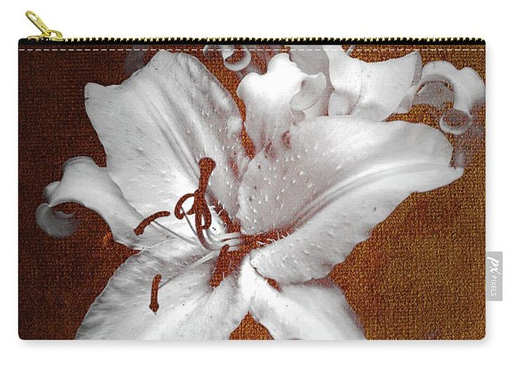 Jenny Rainbow Fine Art Photography Carry-all Pouch featuring the photograph Vintage White Lilies by Jenny Rainbow