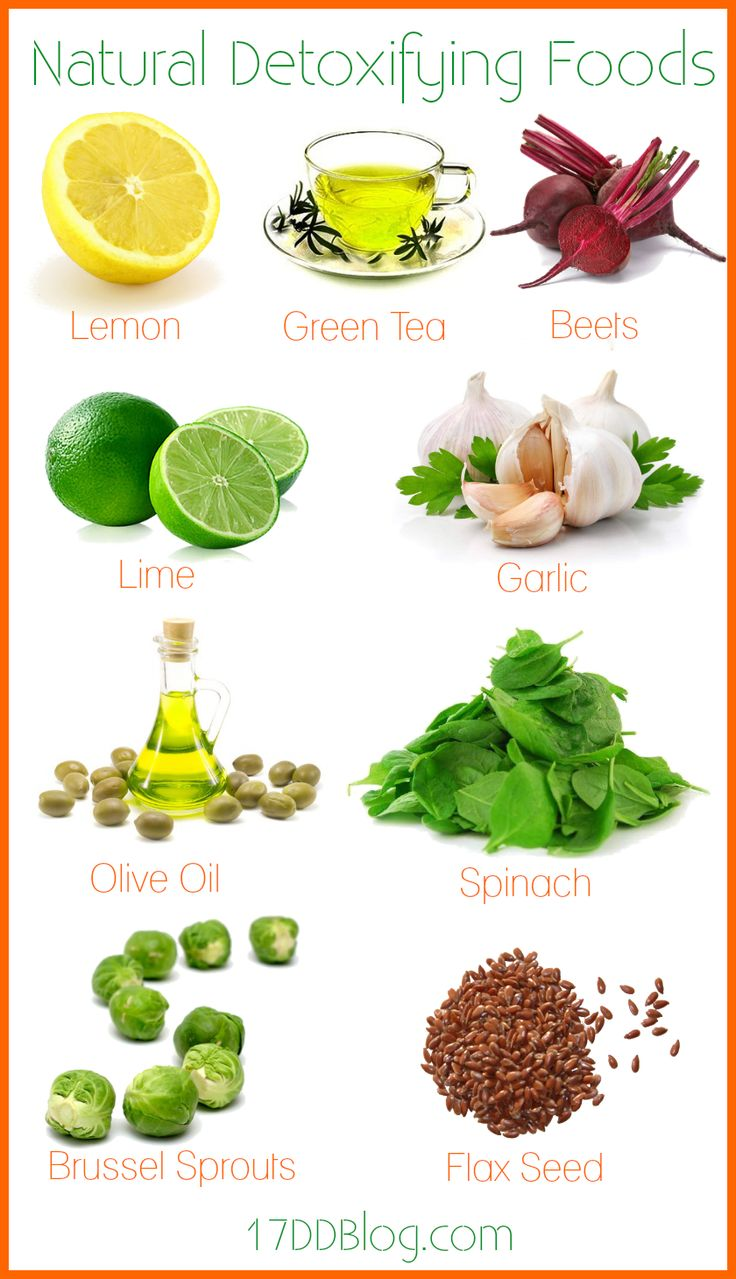 Here are my favorite Natural Detoxifying Foods for the 17 Day Diet (and beyond). #17DDBlog