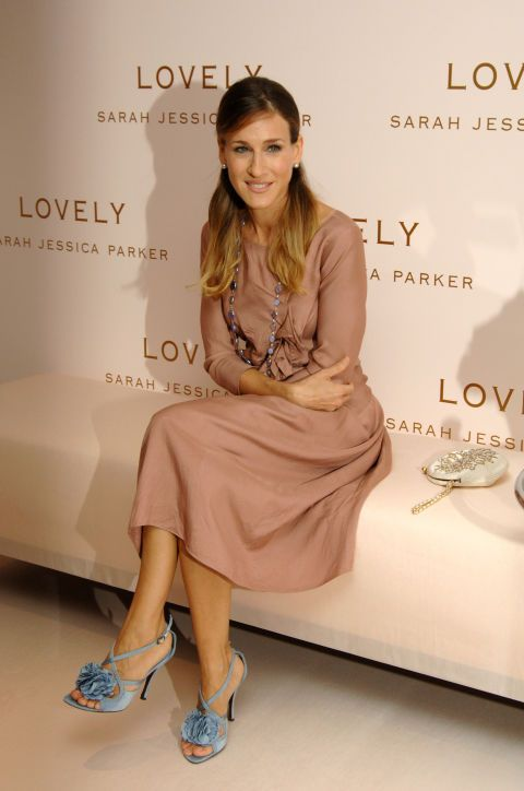 Looking lovely at the launch of her Lovely by Sarah Jessica Parker fragrance.