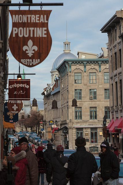 Rue St-Paul, Old Montreal, Canada it was just like being in a European City, but much closer