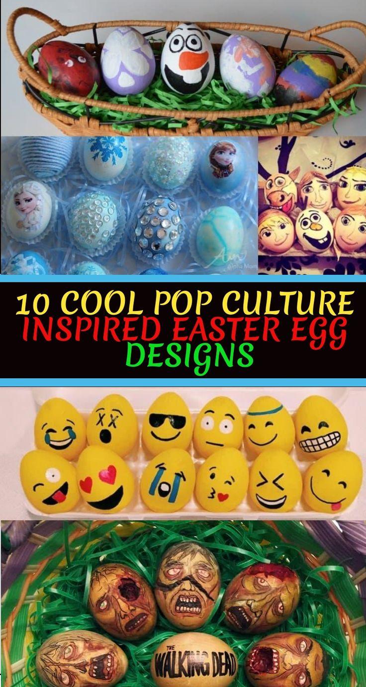 10 Cool Pop Culture Inspired Easter Egg Designs #easterdecor #tablescapes #springdecor #awonderfulthought #kids #freepri…