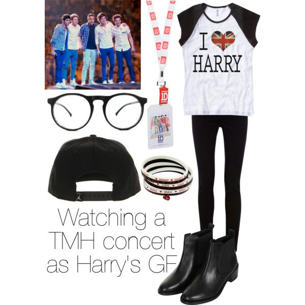 """""""Watching a TMH concert as Harry's GF"""" by ma5bitches on Polyvore"""