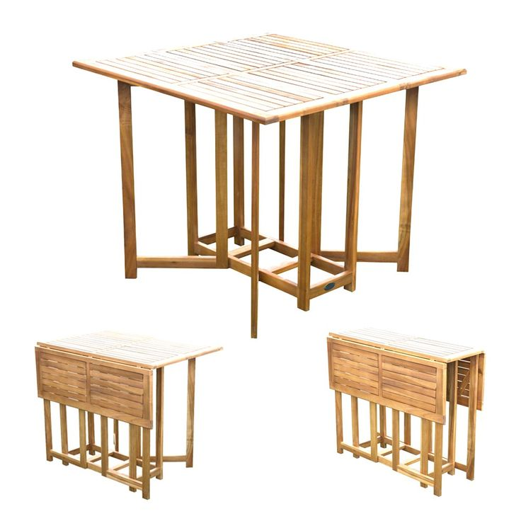 Tavolo pieghevole legno balau richiudibile BA805278