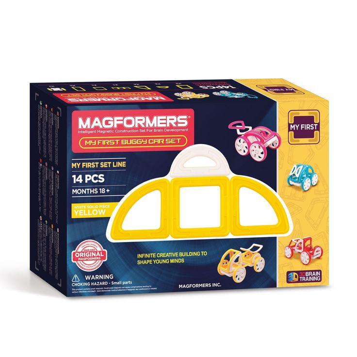 Mag jouw leven op wieltjes lopen? Dan heeft Magformers de speelgoed magneten set van jouw dromen. Met My First Buggy Car Set Yellow bouw je de leukste creaties op wielen. Een auto, een koets of alles wat je zelf kan bedenken. En omdat we vinden dat je auto de kleur van je dromen moet hebben, vind je deze set My First Buggy Car Magformers in 4 verschillende kleuren. Deze 'gele' versie bevat 14 stuks magnetisch speelgoed die aan 1 kant geel en aan de andere kant wit zijn, inclusief 2…
