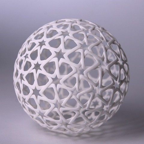 Islamic Christmas Ball 3D #3Dprint #3Dprinting [more pics on Cults website]