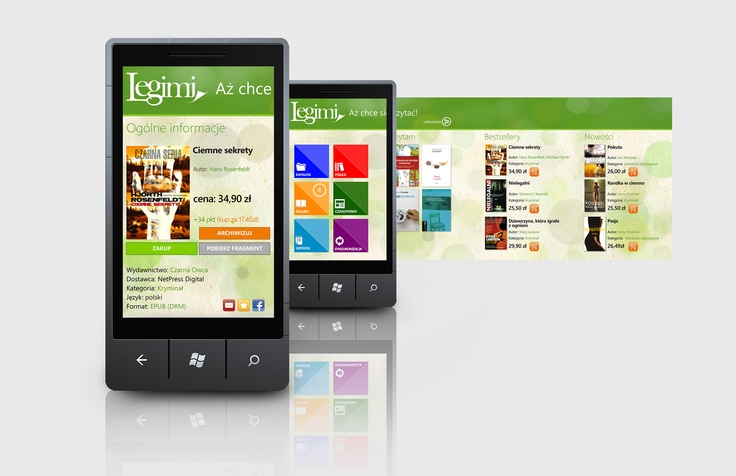 Legimi - e-book reader for Windows Phone: http://www.windowsphone.com/en-us/apps/dc59e6b2-684e-421f-9613-b5875a1a086d