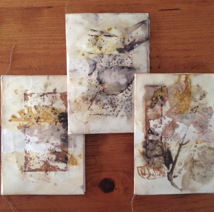 eco dyed mini books by Rita summers
