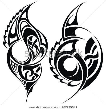 Maori styled tattoo pattern - stock vector