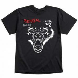 Camiseta Bestial Wolf Negra Impact Varias Tallas