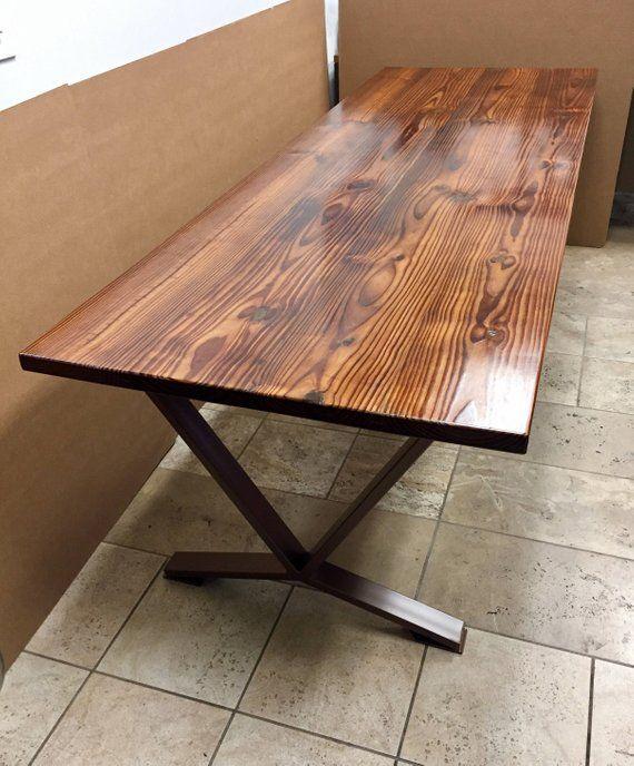 Modern Heat Threaded Pine Table Classic French Design Heat