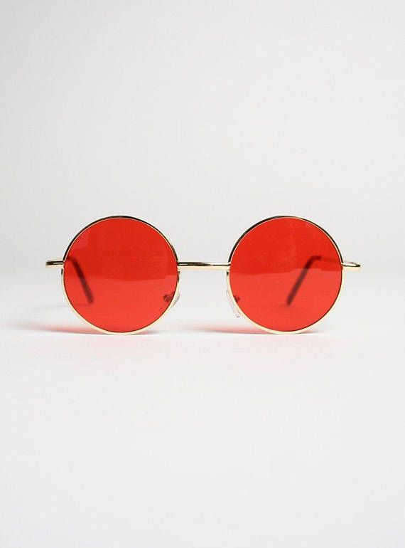 a5f8bce01cb Vintage Circle Lens John Lennon Style Sunglasses Red Rose ...