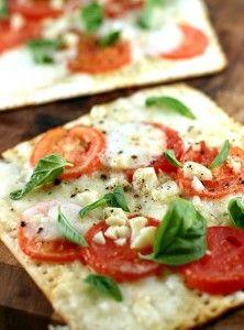 Thin crust pizza in 5 min.  with Matzo crackers