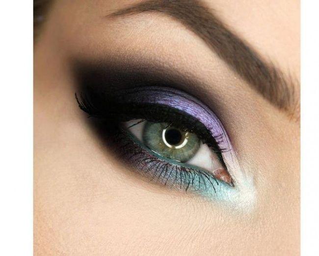 Znalezione obrazy dla zapytania kolorowy makijaż oczu