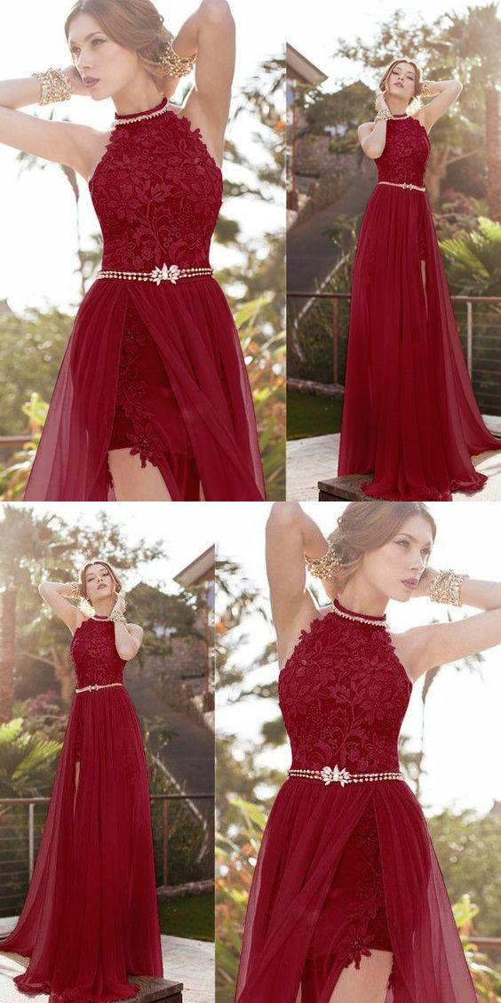 b4371a315de Charming Burgundy Prom Dress