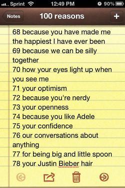 100 reasons why i love you 68-78                              …