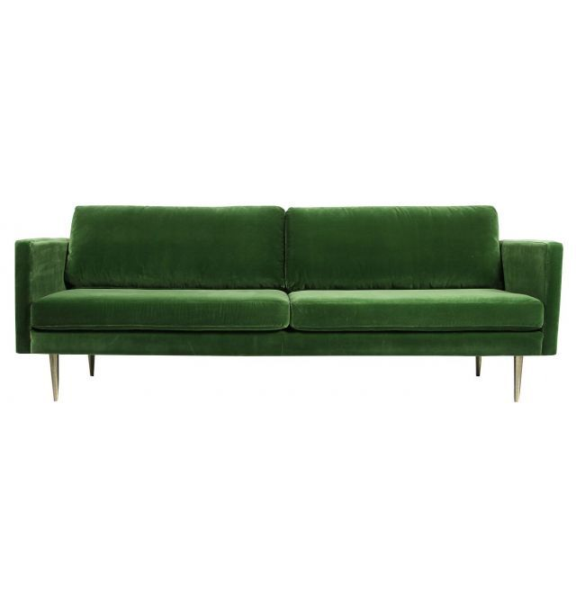 The Big Apple Velvet 3 Seater Sofa
