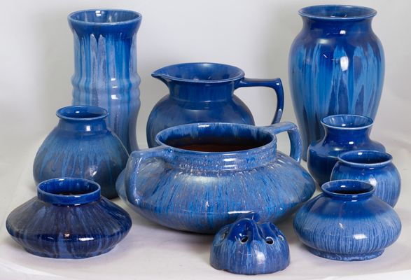 Blue Mel-rose by Hoffman Pottery