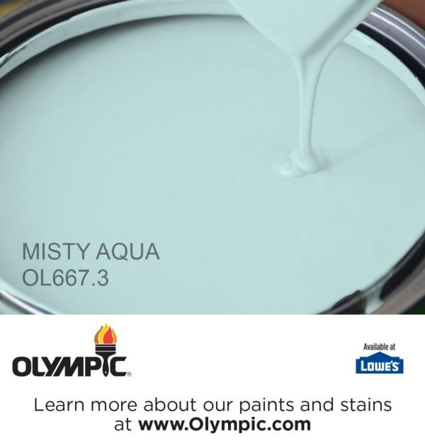 MISTY AQUA OL667.3 is a part of the aquas collection by Olympic® Paint.