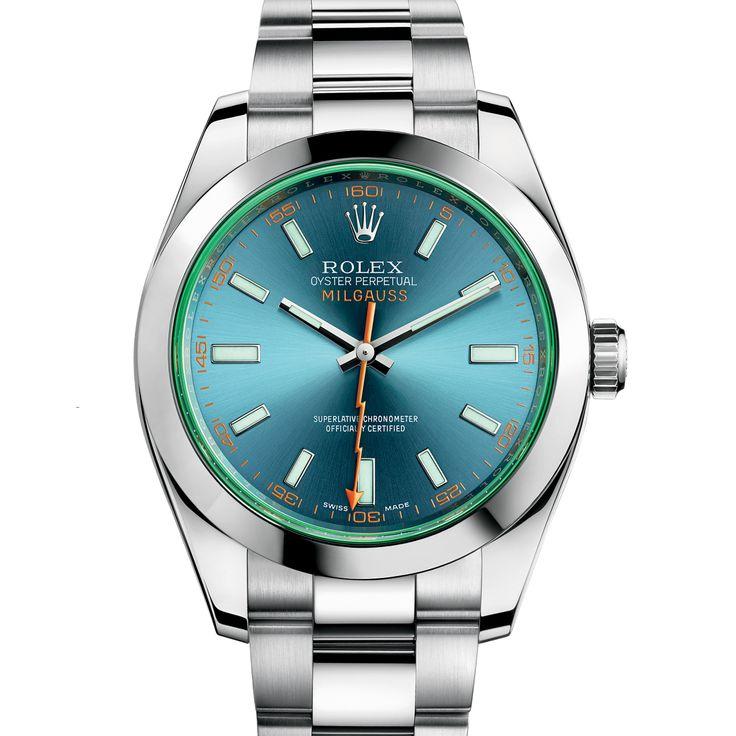 Rolex Milgauss 116400GV Stainless Steel Watch (Z-Blue)