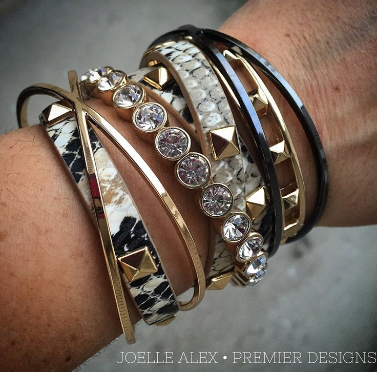 Premier Designs Jewelry Arm Party See the entire collection at bethhughes.mypremierdesigns.com, follow me on Instagram @BethsBlingBiz, and join my closed group for fashion tips, special sales, etc. www.facebook.com/groups/BethsBlingBiz