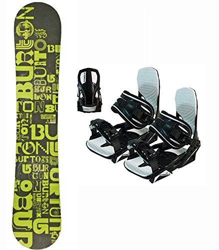 145cm Burton Cruzer Green Black USED Snowboard Package with Symbolic Black Medium NEW Bindings