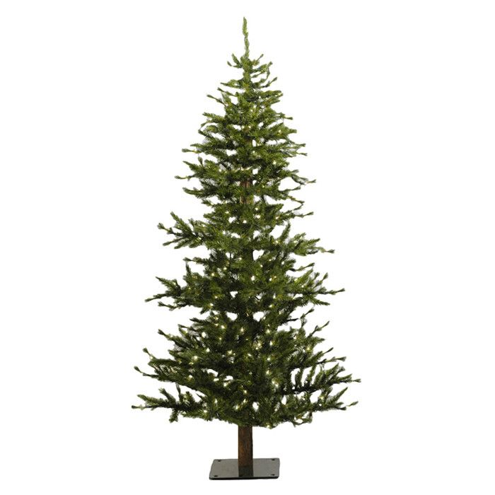 $144 Vickerman Co. Minnesota Pine 6' Green Artificial Half Christmas Tree with 200 Clear Lights with Stand