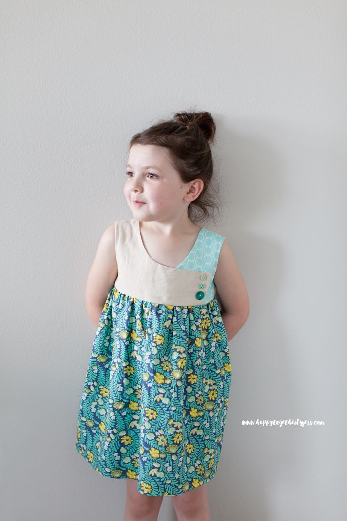 Free Girls Dress Pattern: The August Dress Pattern Sizes 2-9   happy together