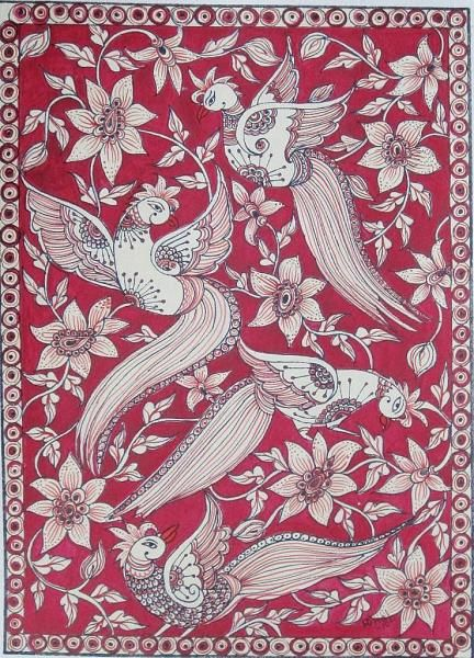 Indian Painting Styles...Kalamkari Paintings (Andhra Pradesh)-5_birds_kalamkari.jpg
