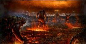 Titanomaquia foi a guerra dos Titãs liderados por Cronos, contra os Deuses do Olimpo liderados por Zeus...