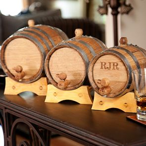 Groomsmen gift? Personalized mini whiskey barrel