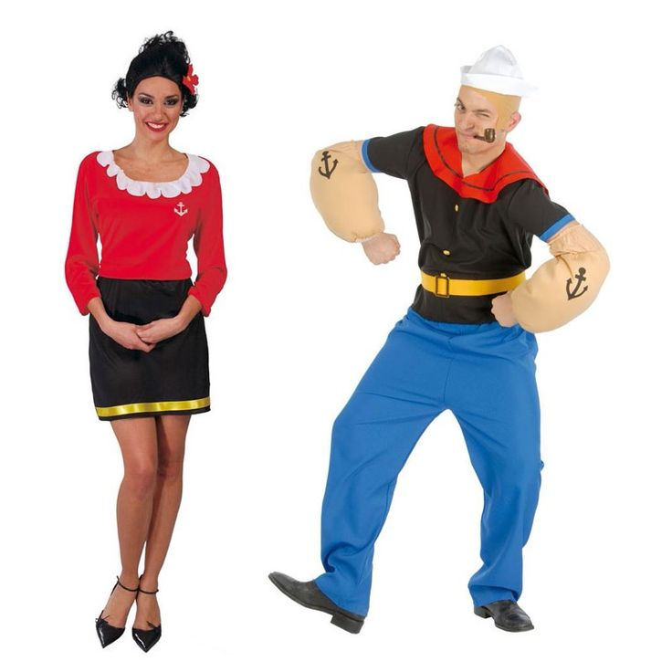 pareja disfraces de popeye olivia parejas disfraces carnaval disfraces para parejas. Black Bedroom Furniture Sets. Home Design Ideas