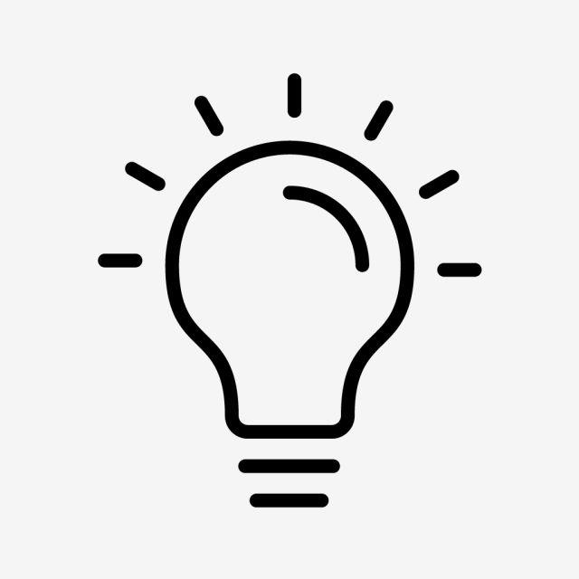 Bulb Line Black Icon Vector And Png Iphone Icon Brain Apps Png Icons
