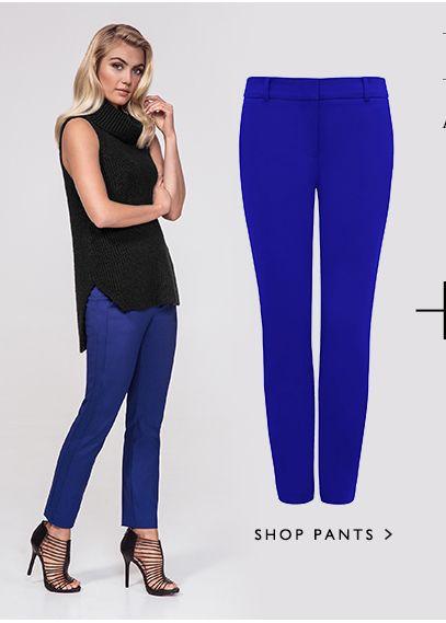Shop Pants >  PAC1024 - GRACE 7/8TH SLIM PANTS (Royal Sapphire)