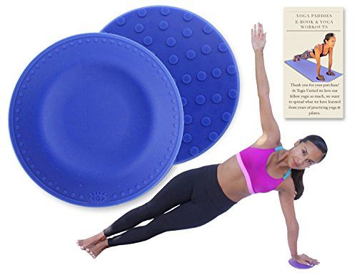 Blue Yoga  Pilates Pads 2 Pack   Travel bag   Workout E-book. Mat Support Comfort for Knee Hand Wrist Head Shoulder  Elbow. 3/4 Inch Thick Silicone Cushion Eliminates  Protects Joints Injuries. ** Want additional info? Click on the image.