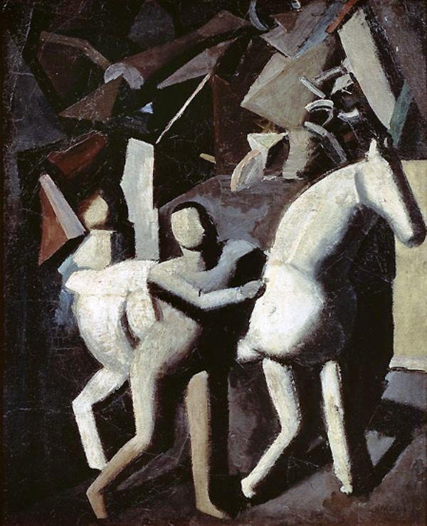 Mario Sironi - The White Horse (Il cavallo bianco), 1919