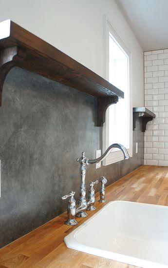 kaemingk design galvanized metal backsplash aged to look like zinc metallic backsplash home on kitchen zinc id=79451