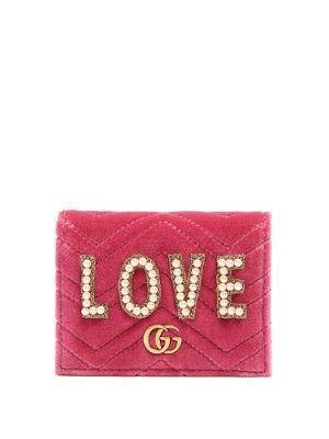 GG Marmont embellished velvet wallet | Gucci | MATCHESFASHION.COM
