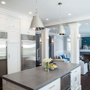 Integrity Custom Woodworks   Kitchens   White Kitchen Cabinets, Shaker  Kitchen Cabinets, Concrete Countertops