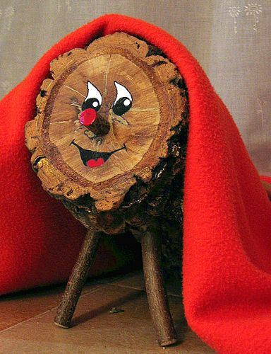 Caga Tió, the pooping log, is a bizarre and widespread Christmas tradition in Catalonia. It starts with a hollowed out log, which is propped up on four little leg-like sticks and then painted to have a face.