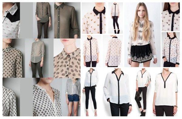 blusas de chifon juveniles estampadas - Buscar con Google