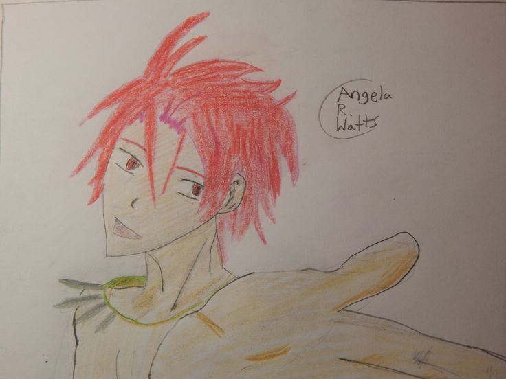 Rin Matsuoka by Angela R. Watts. Picture inspired by the ending theme song ''Splash Free'' :) ♥