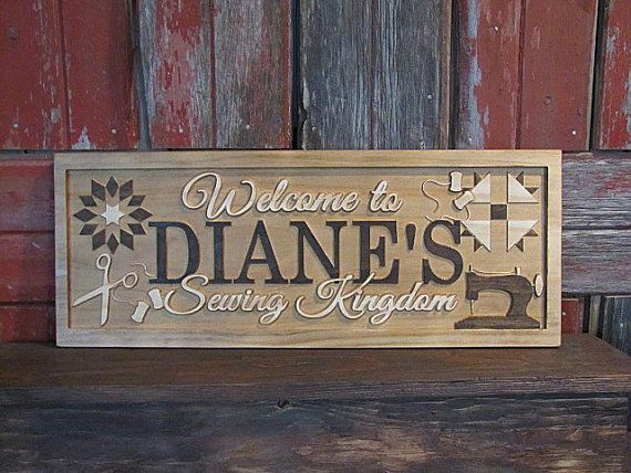 Personalized Name Sign Sewing Room Sign Sewing Machine