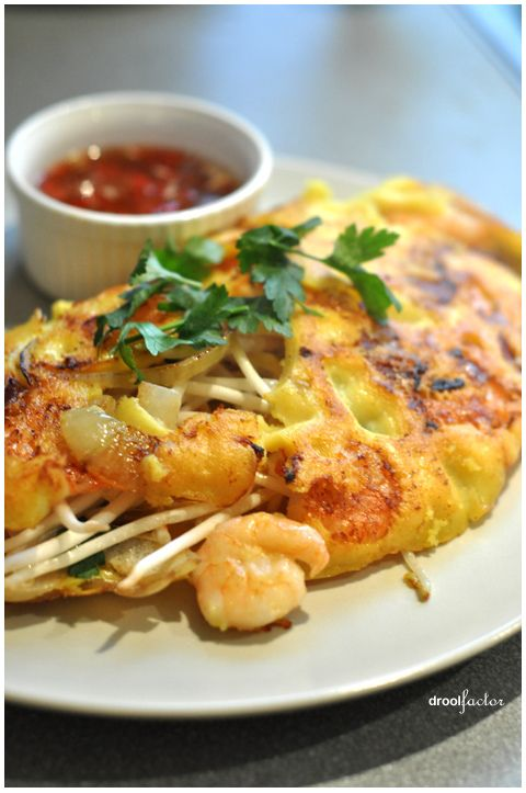 Vietnamese Pancake: To make vegetarian, replace with sautéed tofu, add cilantro and matchstick carrots.